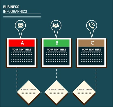 business infographic geometric connection design