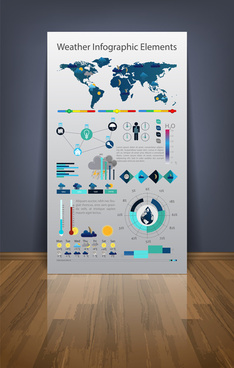 business infographic templates vector set