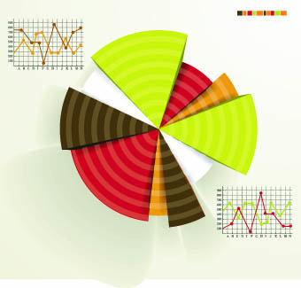 business infographics and chart vector