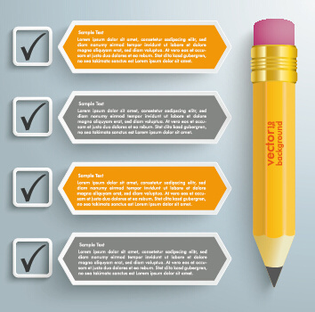business infographics with pencil vector