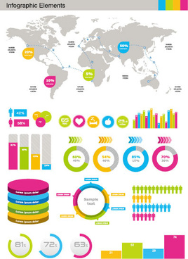 business information data chart vector
