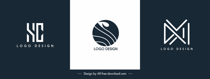 business logo templates modern flat shapes sketch