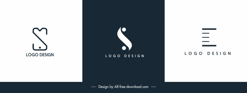 business logo templates simple flat shapes sketch