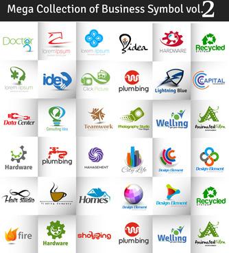 business logos creative design vector set