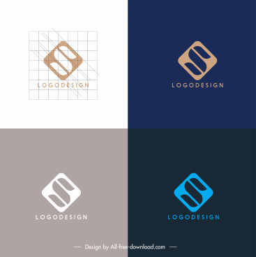 business logotypes flat words geometric design