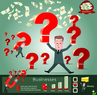 business money infographics vector