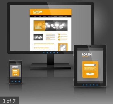 business monitor design vector graphic