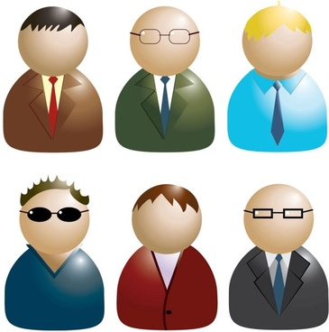 business people icon 02 vector