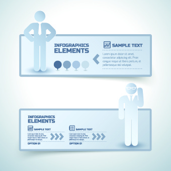 business people infographics banner vector