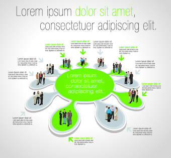business people infographics elements vector