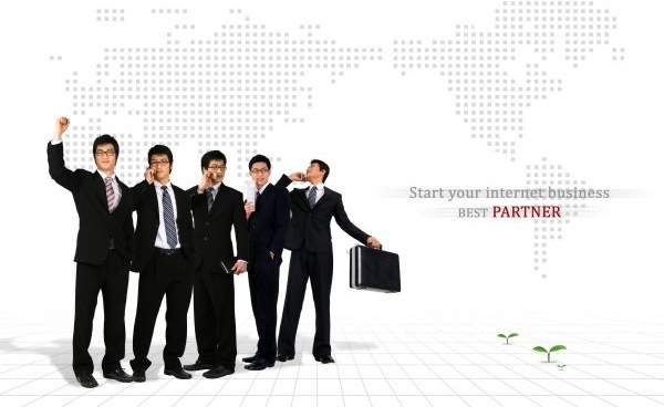 business people psd layered