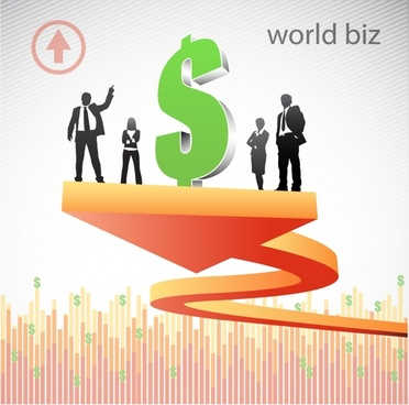 business background currency emblem 3d decor