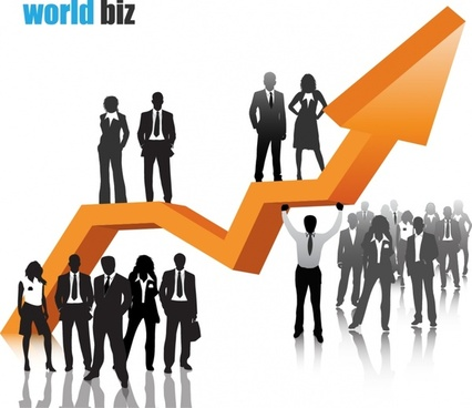 business background human arrow decor modern 3d design