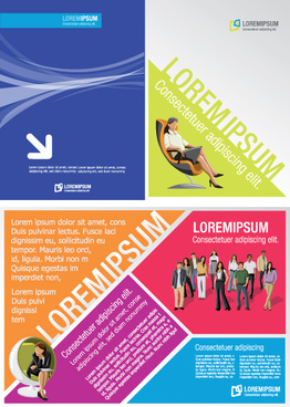 business people with business templates design vector