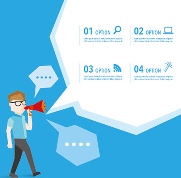 business people with speech bubbles vector set