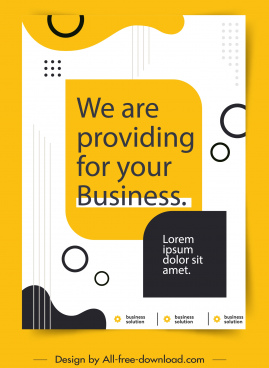 business poster flat classic design text sketch