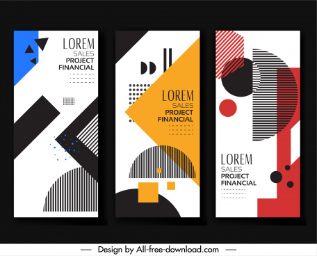 business poster templates abstract geometry decor vertical design