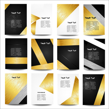 business posters cover template vector set