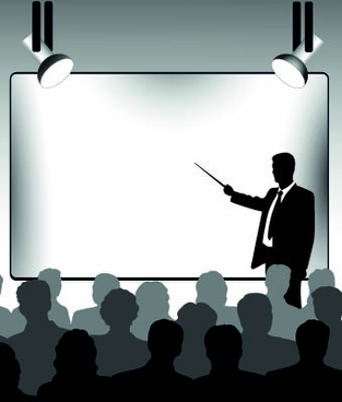 business presentation vector silhouettes