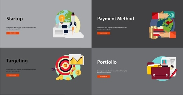 business stages concepts with various styles illustration