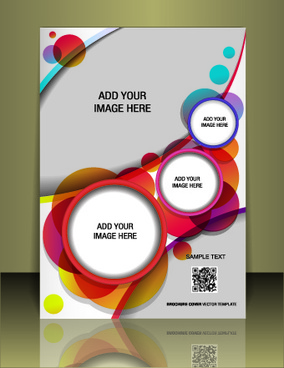 business style brochure cover desing vector