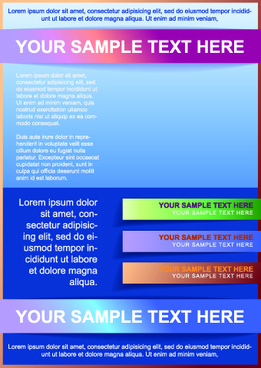 business style brochure flyer cover design vector