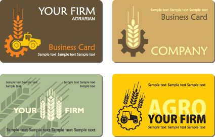 business style business card design vector