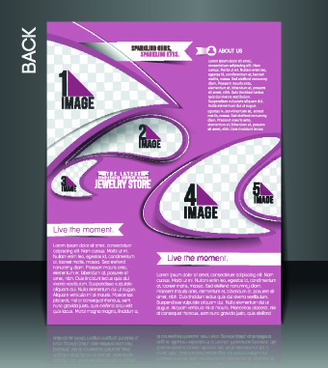 business style cover design elements vector