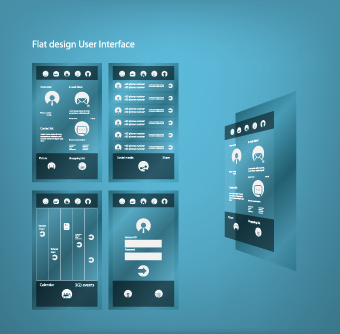 business style flat user interface vector