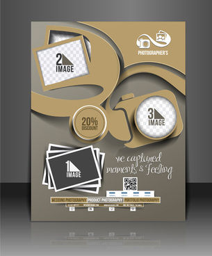 business style numbered flyers cover template vector