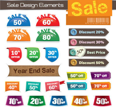 business tag design elements vector