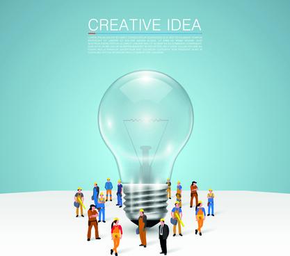 business team creative vector illustration set
