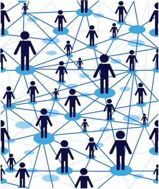 Business team, people icon web
