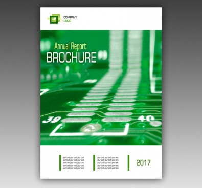 business technology annual report cover brochure