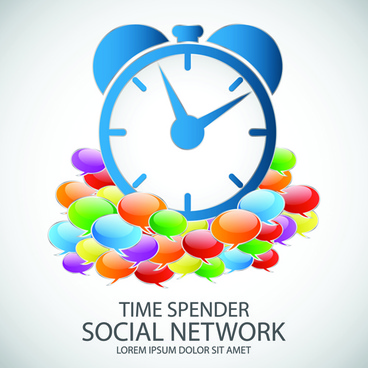 business template social network vector design vector