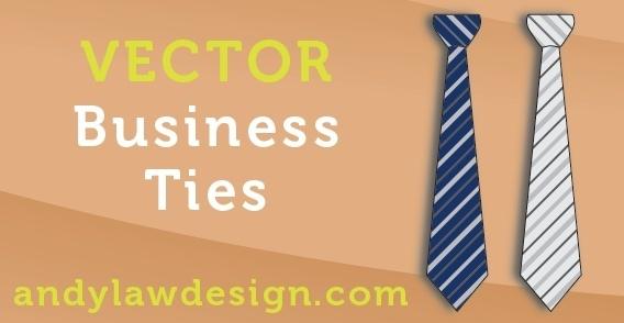 Business Tie Vectors