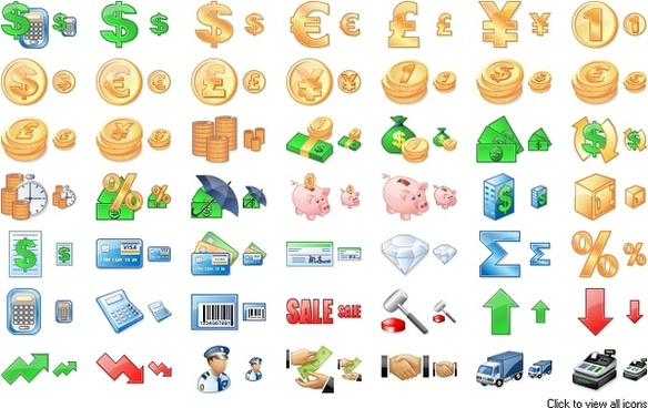 Business Toolbar Icons icons pack
