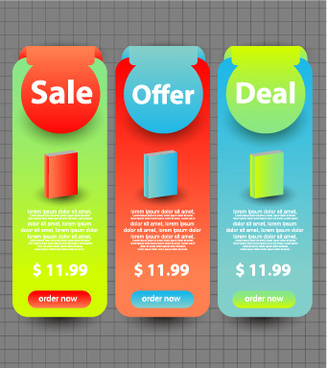 business website banners design vector