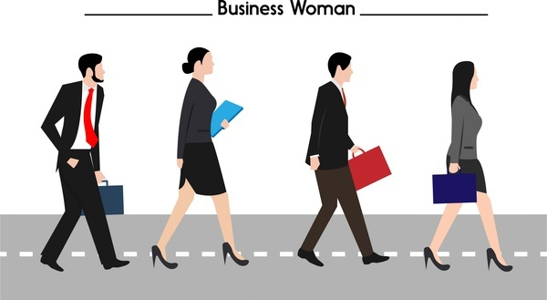 businessman and businesswoman concept design in color