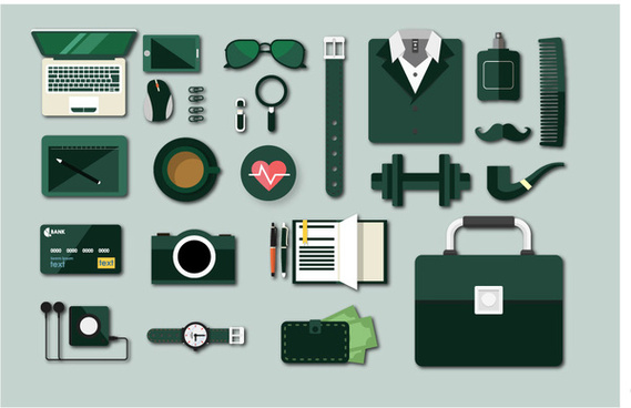 businessman tools vector illustration with flat design