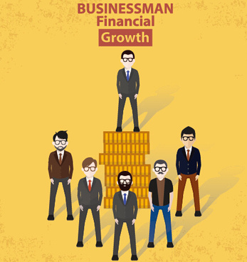 businessmen work concept template vector