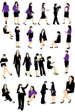 Businesswoman silhouette