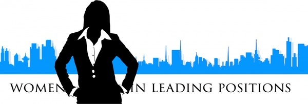 businesswoman silhouette vector illustration with city background