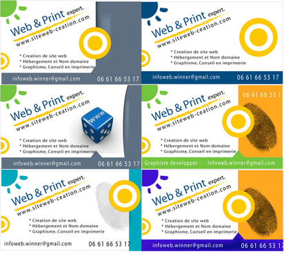 busness cards vector