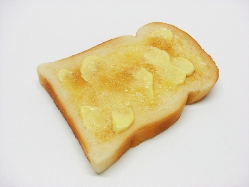buttered toast bread