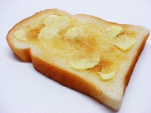 buttered toast food