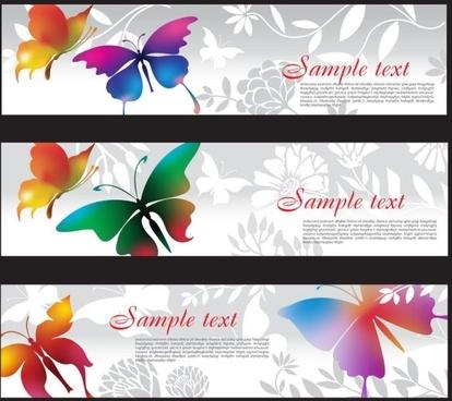 butterflies 02 vector