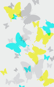 butterflies brushes background vector