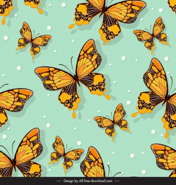 butterflies pattern dark colorful repeating icons sketch