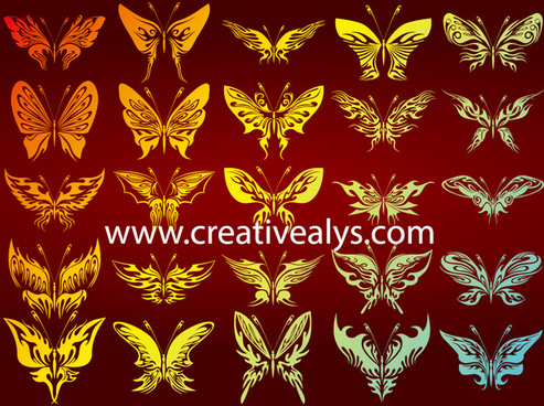 butterflies vector art